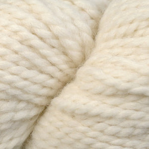 Skein of Berroco Ultra Alpaca Chunky Bulky weight yarn in the color Winter White (White) for knitting and crocheting.