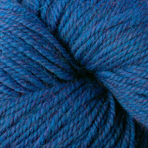 Skein of Berroco Ultra Alpaca Worsted weight yarn in the color Azure Mix (Blue) for knitting and crocheting.
