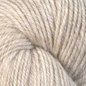 Skein of Berroco Ultra Alpaca Worsted weight yarn in the color Barley (Tan) for knitting and crocheting.