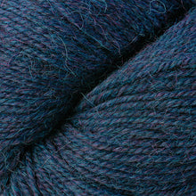 Load image into Gallery viewer, Skein of Berroco Ultra Alpaca Worsted weight yarn in the color Blueberry Mix (Blue) for knitting and crocheting.