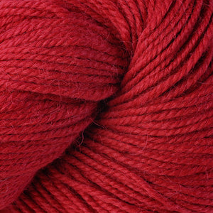 Skein of Berroco Ultra Alpaca Worsted weight yarn in the color Cardinal (Red) for knitting and crocheting.