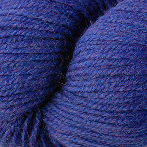 Skein of Berroco Ultra Alpaca Worsted weight yarn in the color Cobalt Mix (Blue) for knitting and crocheting.