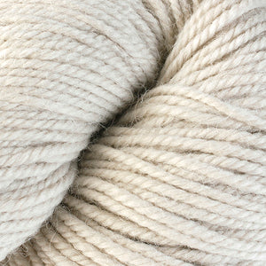 Skein of Berroco Ultra Alpaca Worsted weight yarn in the color Eiderdown (Tan) for knitting and crocheting.