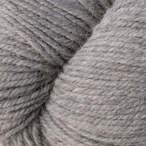 Skein of Berroco Ultra Alpaca Worsted weight yarn in the color Light Grey (Gray) for knitting and crocheting.