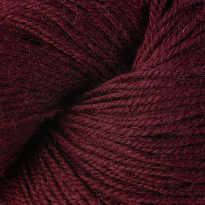 Skein of Berroco Ultra Alpaca Worsted weight yarn in the color Merlot (Red) for knitting and crocheting.