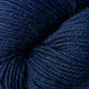 Skein of Berroco Ultra Alpaca Worsted weight yarn in the color Navy (Blue) for knitting and crocheting.