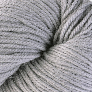 Skein of Berroco Ultra Alpaca Worsted weight yarn in the color Nickel (Gray) for knitting and crocheting.