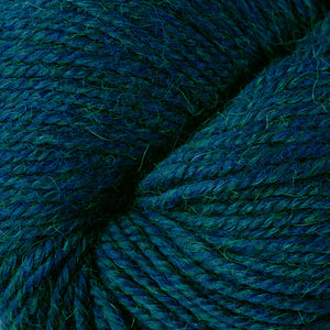 Skein of Berroco Ultra Alpaca Worsted weight yarn in the color Oceanic Mix (Blue) for knitting and crocheting.