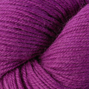 Skein of Berroco Ultra Alpaca Worsted weight yarn in the color Orchid (Pink) for knitting and crocheting.
