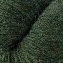 Load image into Gallery viewer, Skein of Berroco Ultra Alpaca Worsted weight yarn in the color Peat Mix (Green) for knitting and crocheting.