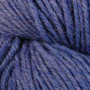 Skein of Berroco Ultra Alpaca Worsted weight yarn in the color Periwinkle Mix (Blue) for knitting and crocheting.