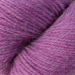 Skein of Berroco Ultra Alpaca Worsted weight yarn in the color Pink Berry Mix (Pink) for knitting and crocheting.