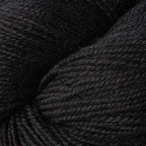 Skein of Berroco Ultra Alpaca Worsted weight yarn in the color Pitch Black (Black) for knitting and crocheting.