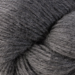 Skein of Berroco Ultra Alpaca Worsted weight yarn in the color Salt & Pepper (Gray) for knitting and crocheting.