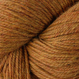 Skein of Berroco Ultra Alpaca Worsted weight yarn in the color Tiger's Eye Mix (Yellow) for knitting and crocheting.