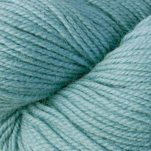 Skein of Berroco Ultra Alpaca Worsted weight yarn in the color Zephyr (Blue) for knitting and crocheting.