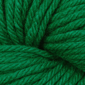 Skein of Berroco Vintage Chunky Bulky weight yarn in the color Holly (Green) for knitting and crocheting.
