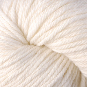 Skein of Berroco Vintage Chunky Bulky weight yarn in the color Mochi (White) for knitting and crocheting.