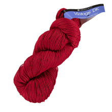 Load image into Gallery viewer, Skein of Berroco Vintage DK DK weight yarn in the color Cardinal (Red) for knitting and crocheting.