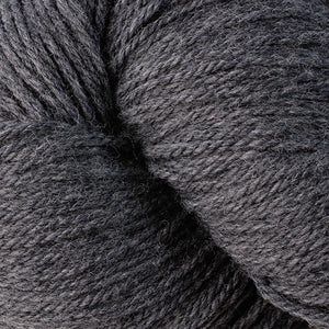 Skein of Berroco Vintage DK DK weight yarn in the color Cracked Pepper (Gray) for knitting and crocheting.