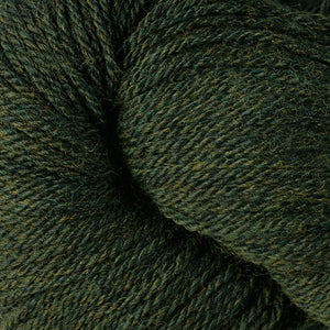 Skein of Berroco Vintage DK DK weight yarn in the color Douglas Fir (Green) for knitting and crocheting.