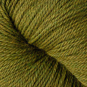 Skein of Berroco Vintage DK DK weight yarn in the color Fennel (Green) for knitting and crocheting.