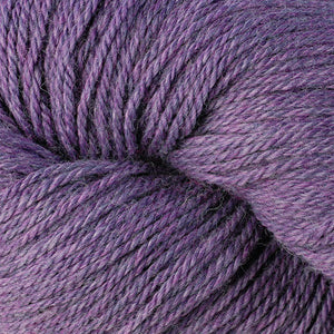 Skein of Berroco Vintage DK DK weight yarn in the color Lilacs (Purple) for knitting and crocheting.