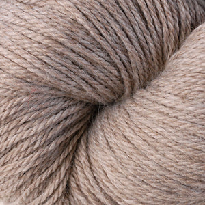 Skein of Berroco Vintage DK DK weight yarn in the color Oats (Brown) for knitting and crocheting.