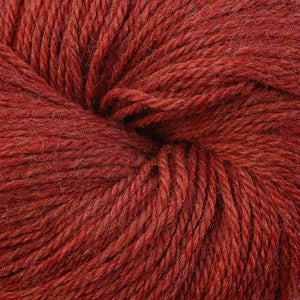 Skein of Berroco Vintage DK DK weight yarn in the color Red Pepper (Red) for knitting and crocheting.