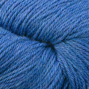 Skein of Berroco Vintage DK DK weight yarn in the color Sapphire (Blue) for knitting and crocheting.