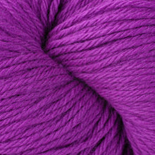 Load image into Gallery viewer, Skein of Berroco Vintage Worsted weight yarn in the color Aurora (Purple) for knitting and crocheting.