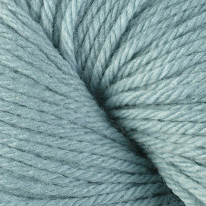 Skein of Berroco Vintage Worsted weight yarn in the color Bird's Egg (Blue) for knitting and crocheting.
