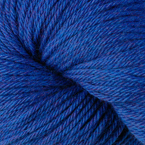 Skein of Berroco Vintage Worsted weight yarn in the color Blue Moon (Blue) for knitting and crocheting.