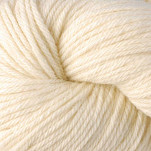 Load image into Gallery viewer, Skein of Berroco Vintage Worsted weight yarn in the color Buttercream (Cream) for knitting and crocheting.