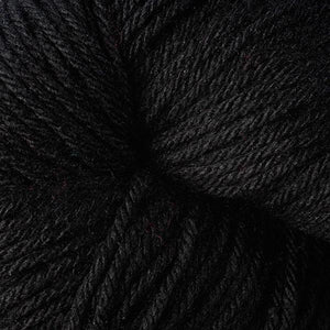 Skein of Berroco Vintage  Worsted weight yarn in the color Cast Iron (Black) for knitting and crocheting.