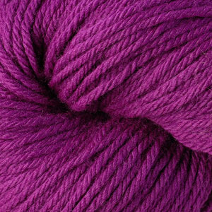 Skein of Berroco Vintage  Worsted weight yarn in the color Dewberry (Pink) for knitting and crocheting.