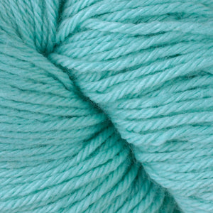 Skein of Berroco Vintage  Worsted weight yarn in the color Electric (Blue) for knitting and crocheting.