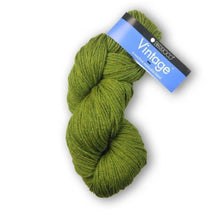 Load image into Gallery viewer, Berroco-Vintage-Worsted-Yarn-Fennel-5175-Main.jpg  365 × 480px  Skein of Berroco Vintage Worsted weight yarn in the color Fennel (Green) for knitting and crocheting.
