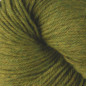 Skein of Berroco Vintage Worsted weight yarn in the color Fennel (Green) for knitting and crocheting.