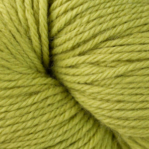 Skein of Berroco Vintage Worsted weight yarn in the color Grapes (Green) for knitting and crocheting.