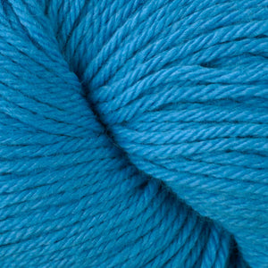 Skein of Berroco Vintage Worsted weight yarn in the color Horizon Blue (Blue) for knitting and crocheting.