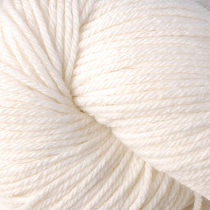 Skein of Berroco Vintage  Worsted weight yarn in the color Mochi (White) for knitting and crocheting.