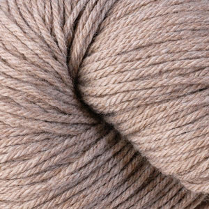 Skein of Berroco Vintage Worsted weight yarn in the color Oats (Brown) for knitting and crocheting.