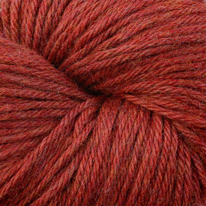 Skein of Berroco Vintage Worsted weight yarn in the color Red Pepper (Red) for knitting and crocheting.