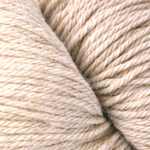 Skein of Berroco Vintage  Worsted weight yarn in the color Rye (Tan) for knitting and crocheting.