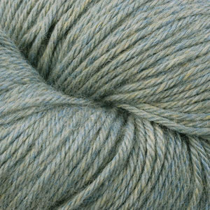 Skein of Berroco Vintage  Worsted weight yarn in the color Sage (Green) for knitting and crocheting.