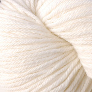 Skein of Berroco Vintage  Worsted weight yarn in the color Snow Day (White) for knitting and crocheting.