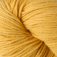 Load image into Gallery viewer, Skein of Berroco Vintage Worsted weight yarn in the color Sunny (Yellow) for knitting and crocheting.
