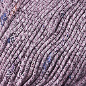 Skein of Berroco Zinnia Worsted weight yarn in color Lavender (Purple) for knitting and crocheting.