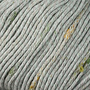 Skein of Berroco Zinnia Worsted weight yarn in color Menthe (Green) for knitting and crocheting.